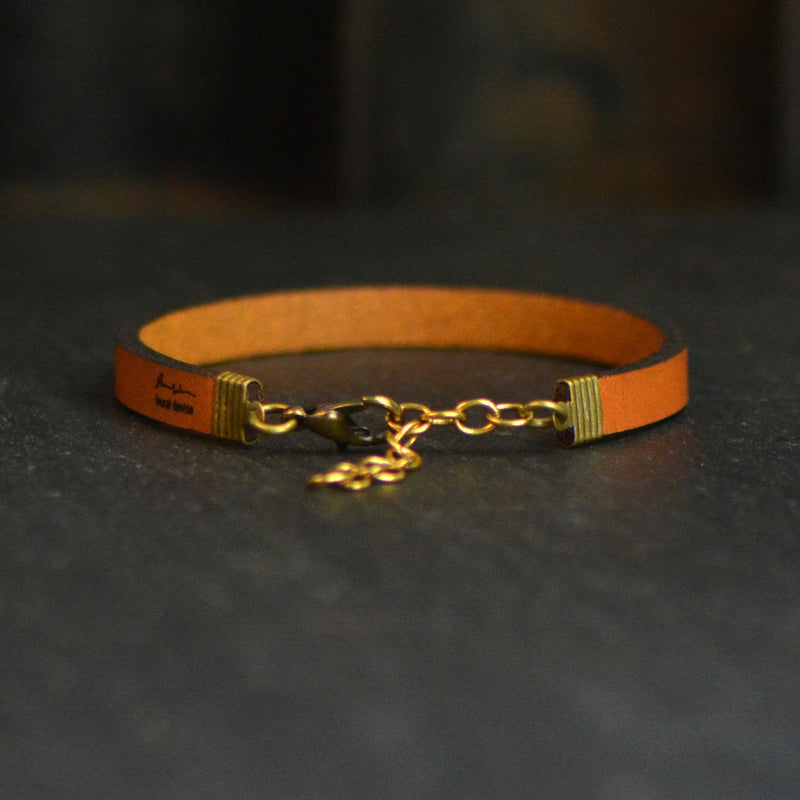 Wherever You Go, Go With All Your Heart - Leather Bracelet