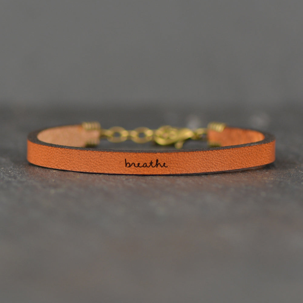 Breathe - Leather Bracelet