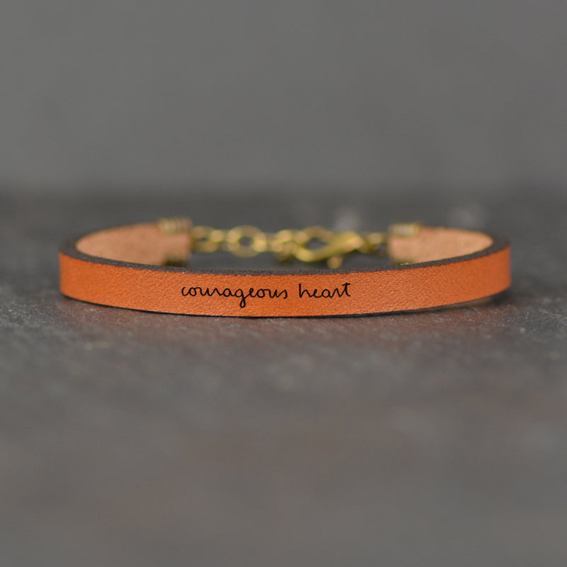 Courageous Heart - Leather Bracelet