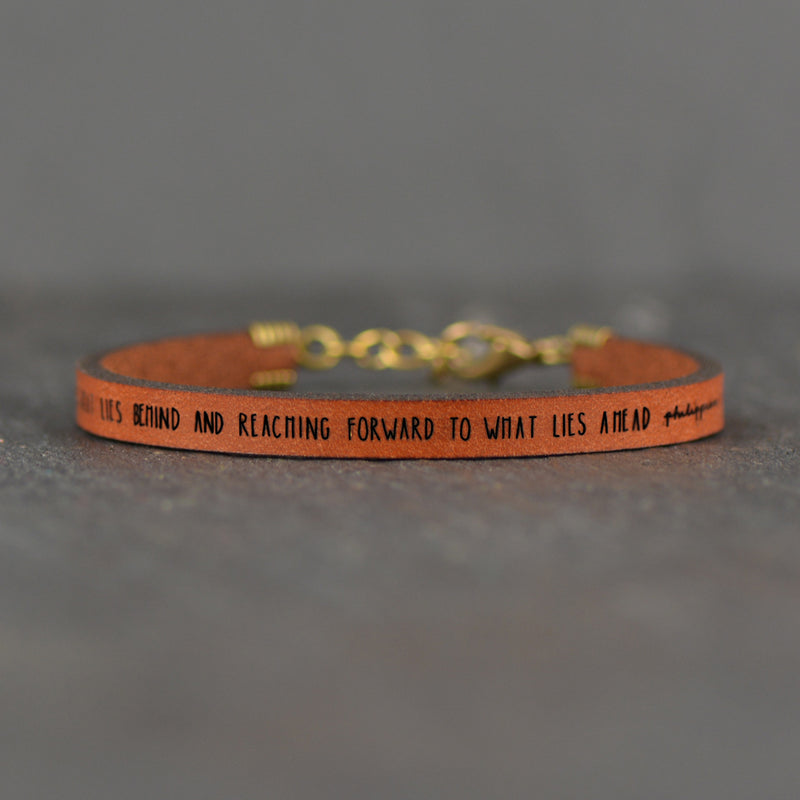 Forgetting What Lies Behind Scripture Bracelet by Laurel Denise