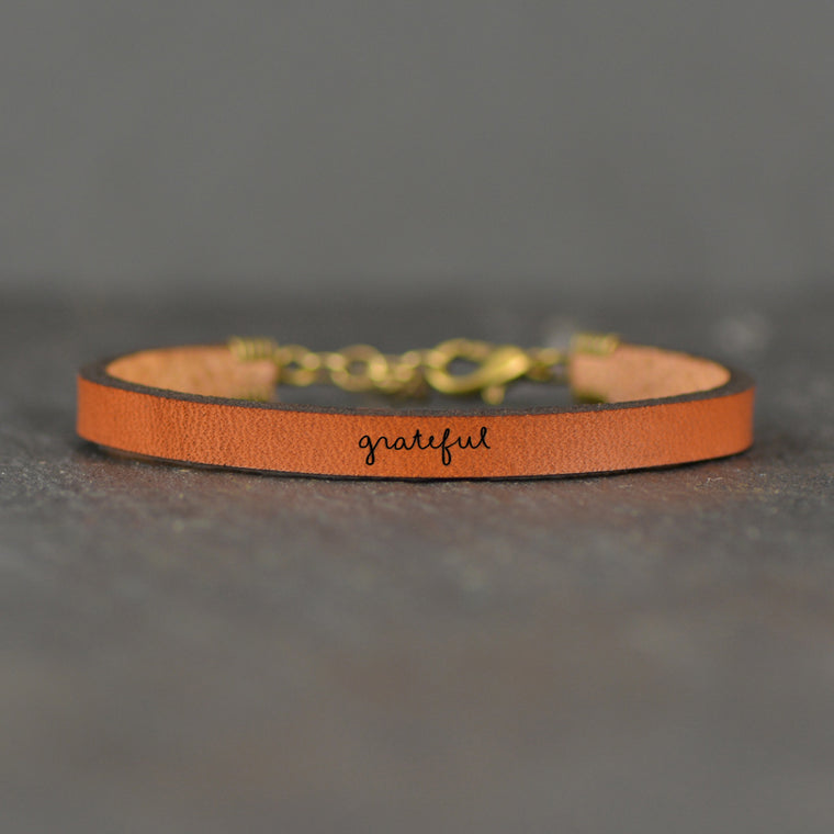 Grateful - Leather Bracelet