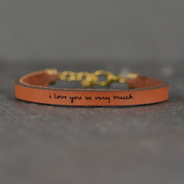 I Love You So Very Much - Leather Bracelet