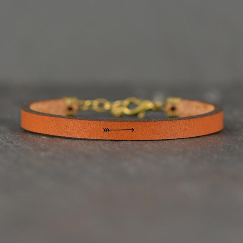 Arrow Image - Leather Bracelet
