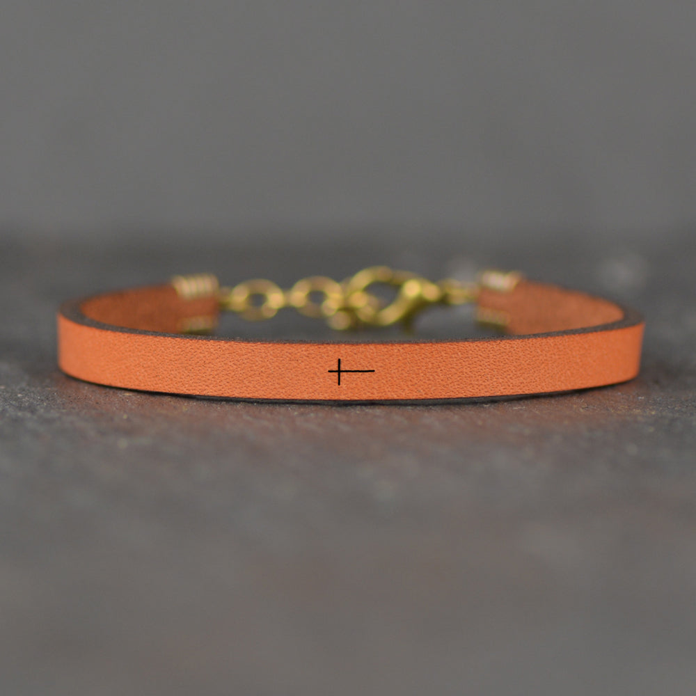 Cross Image - Leather Bracelet