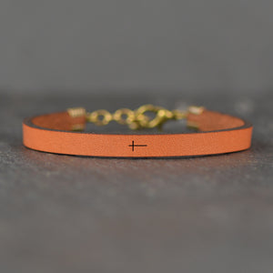Cross Leather Bracelet - Christian Jewelry by Laurel Denise