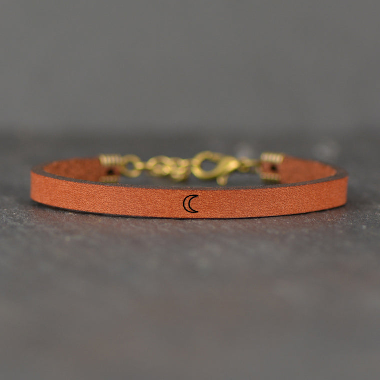 Moon Image - Leather Bracelet