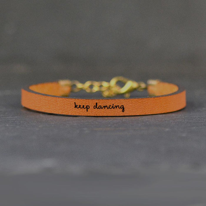 Keep Dancing - Leather Bracelet