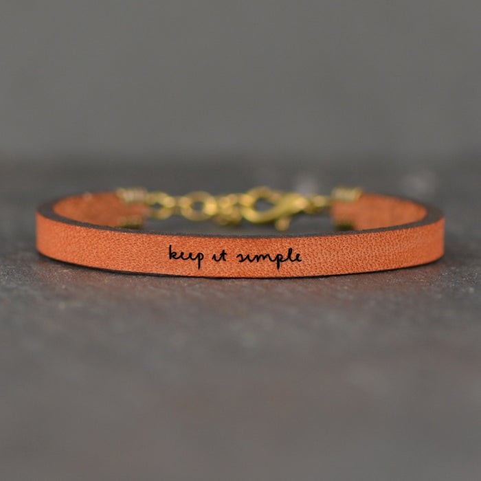 Keep it Simple - Leather Bracelet