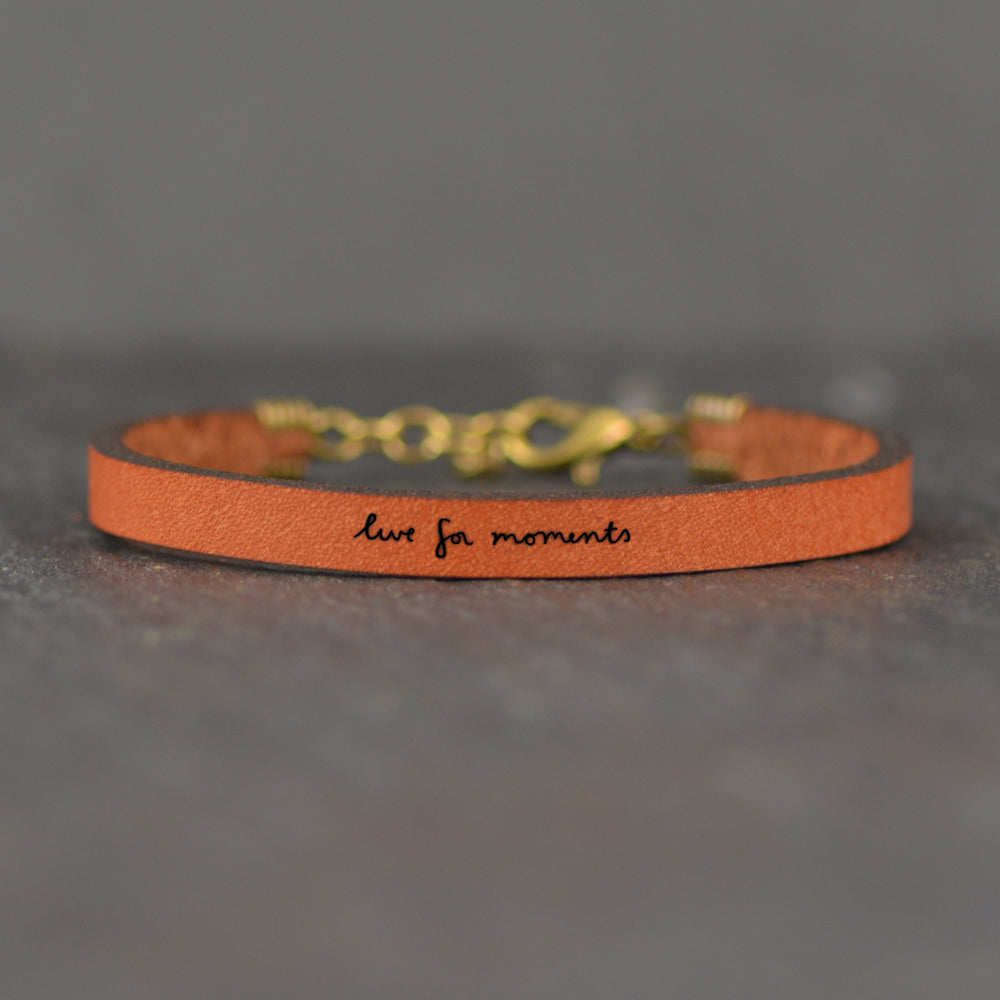 Live for Moments - Leather Bracelet