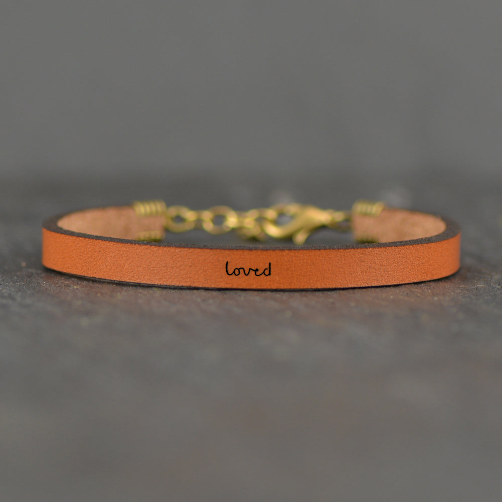 Loved - Leather Bracelet