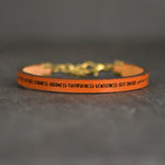 Love Joy Peace Patience... - Galatians 5:22-23 - Leather Bracelet