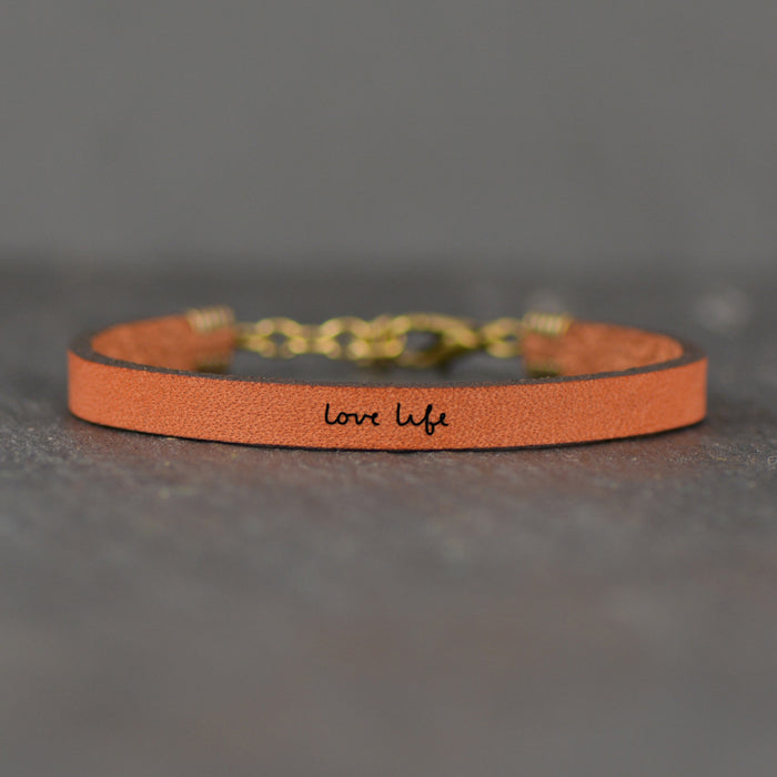 Love Life - Leather Bracelet