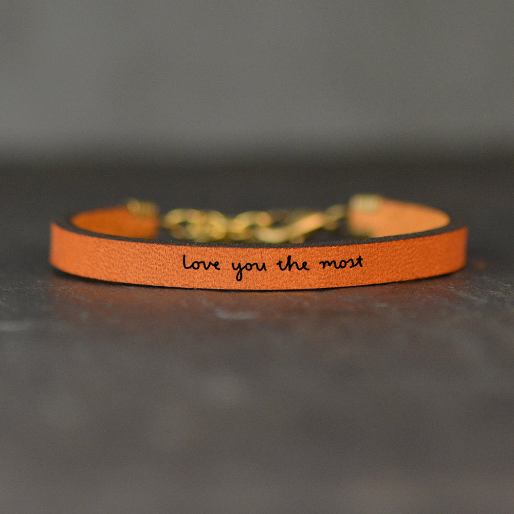 Love You The Most - Leather Bracelet