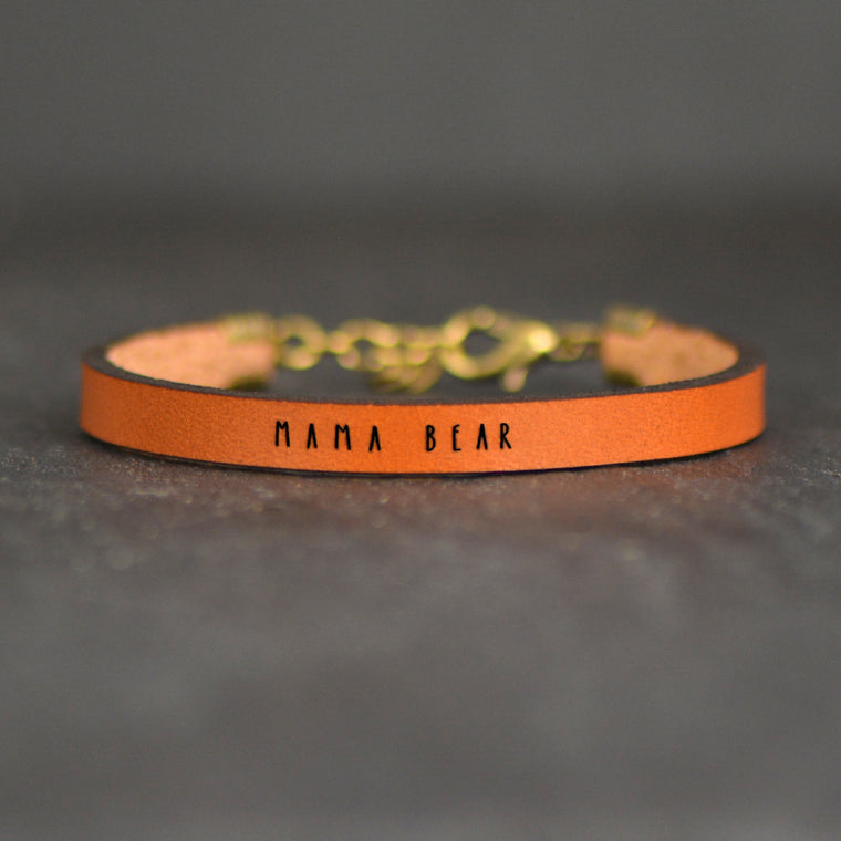 Mama Bear - Leather Bracelet