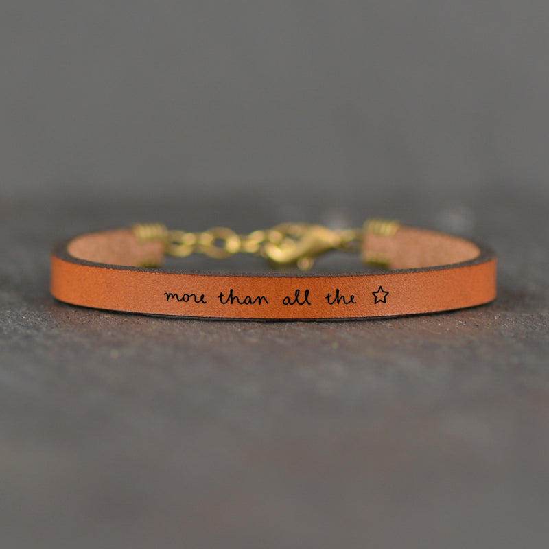 More Than All The Stars - Leather Bracelet