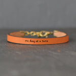 One Day at a Time - Leather Bracelet