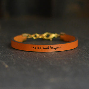 Load image into Gallery viewer, To Infinity and Beyond - Leather Bracelet