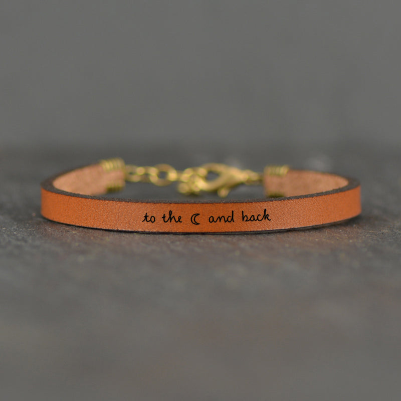 To the Moon and Back - Leather Bracelet