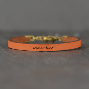 Wanderlust - Leather Bracelet