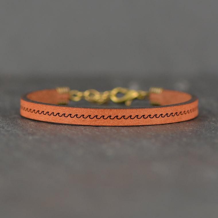 Waves Image - Leather Bracelet