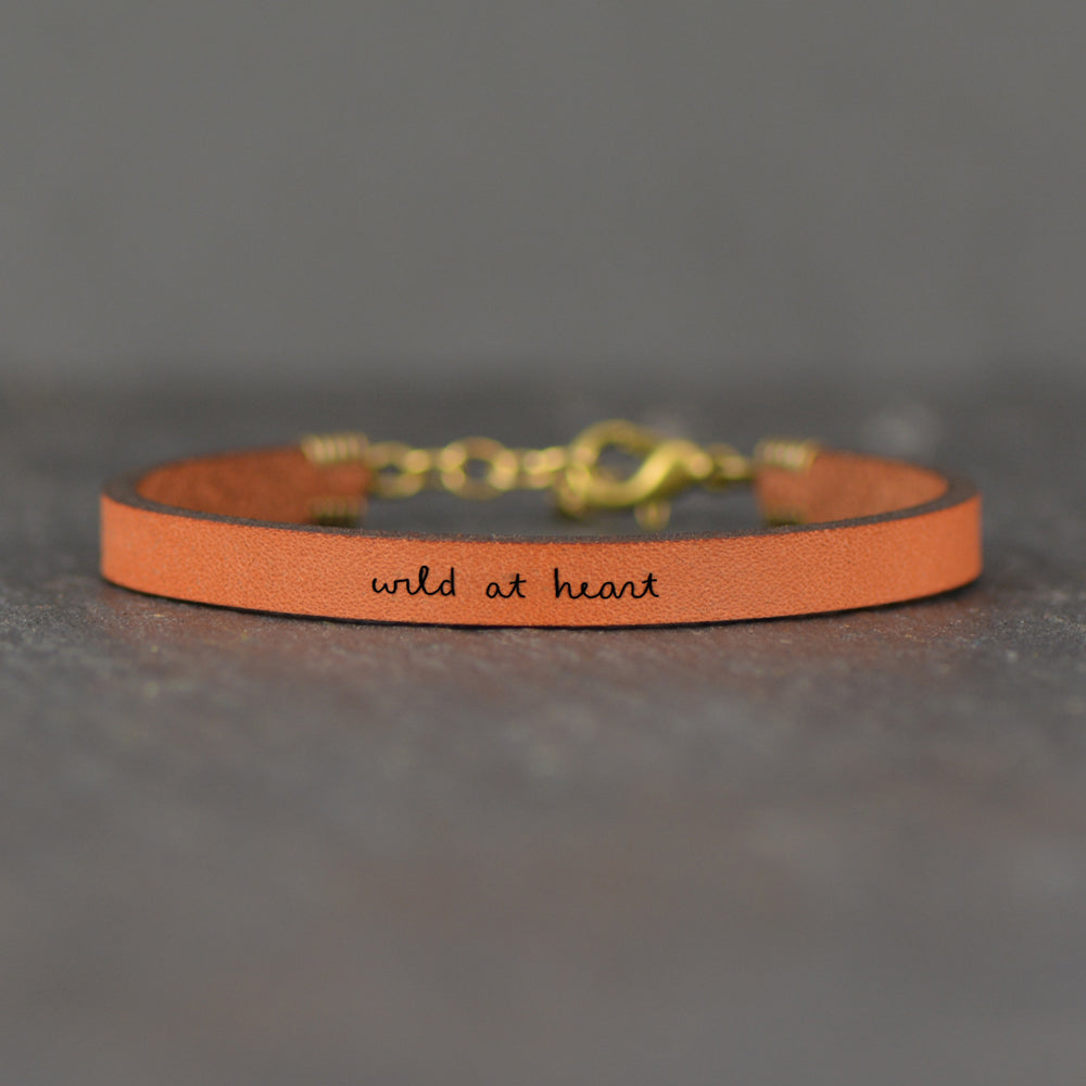 Wild at Heart - Leather Bracelet