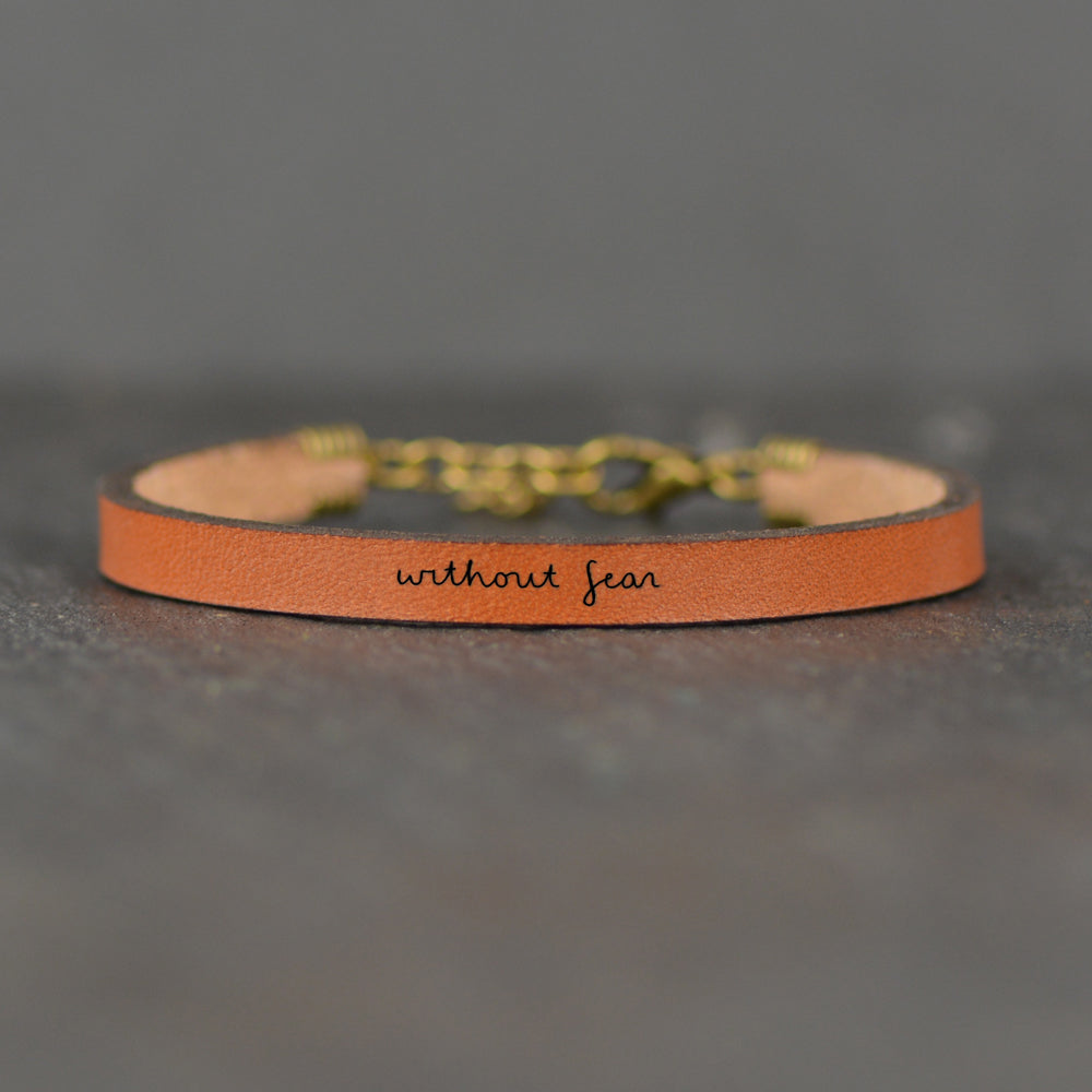 Without Fear - Leather Bracelet