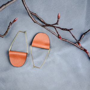 Fashionable Leather Earrings
