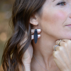 Load image into Gallery viewer, Fold Over Leather Earrings by Laurel Denise - Teacher Appreciation Gifts