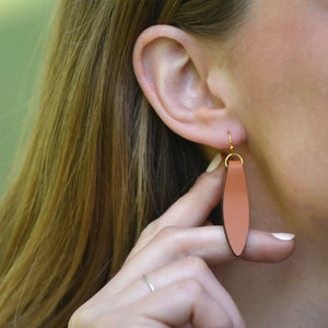 Fold Over Leather Earrings by Laurel Denise - Teacher Appreciation Gifts