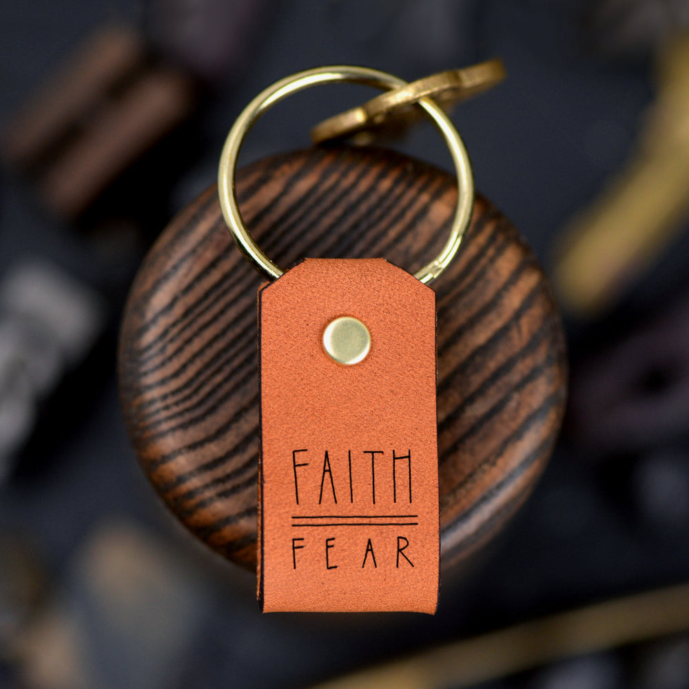 Load image into Gallery viewer, Faith Over Fear - Keychain