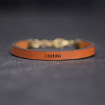 Courage - Leather Bracelet