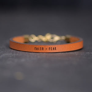 Load image into Gallery viewer, Faith > Fear - Graduation Gift Bracelet by Laurel Denise