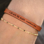 I Am With You Always (Matthew 28:20) - Leather Bracelet