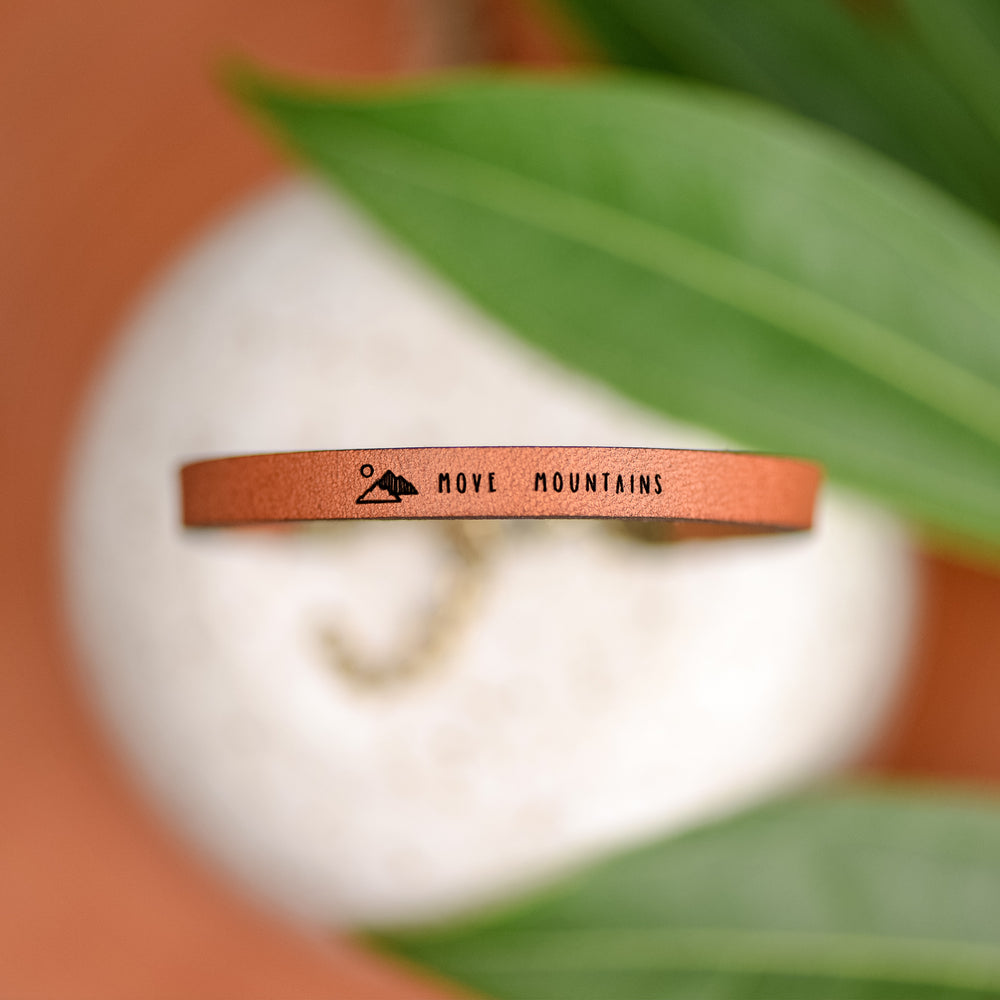 Move Mountains - Leather Bracelet