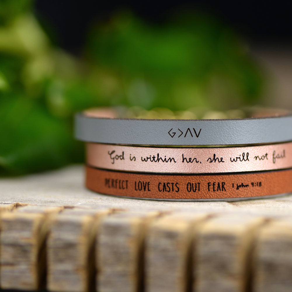 Perfect Love Casts Out Fear - Scripture Bracelets by Laurel Denise