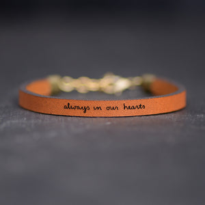Always in our Hearts - Simple, Meaningful Remembrance Bracelets from Laurel Denise
