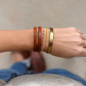 And Still I Rise - Leather Bracelet