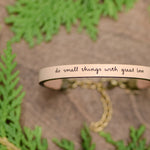 Do Small Things With Great Love - Leather Bracelet