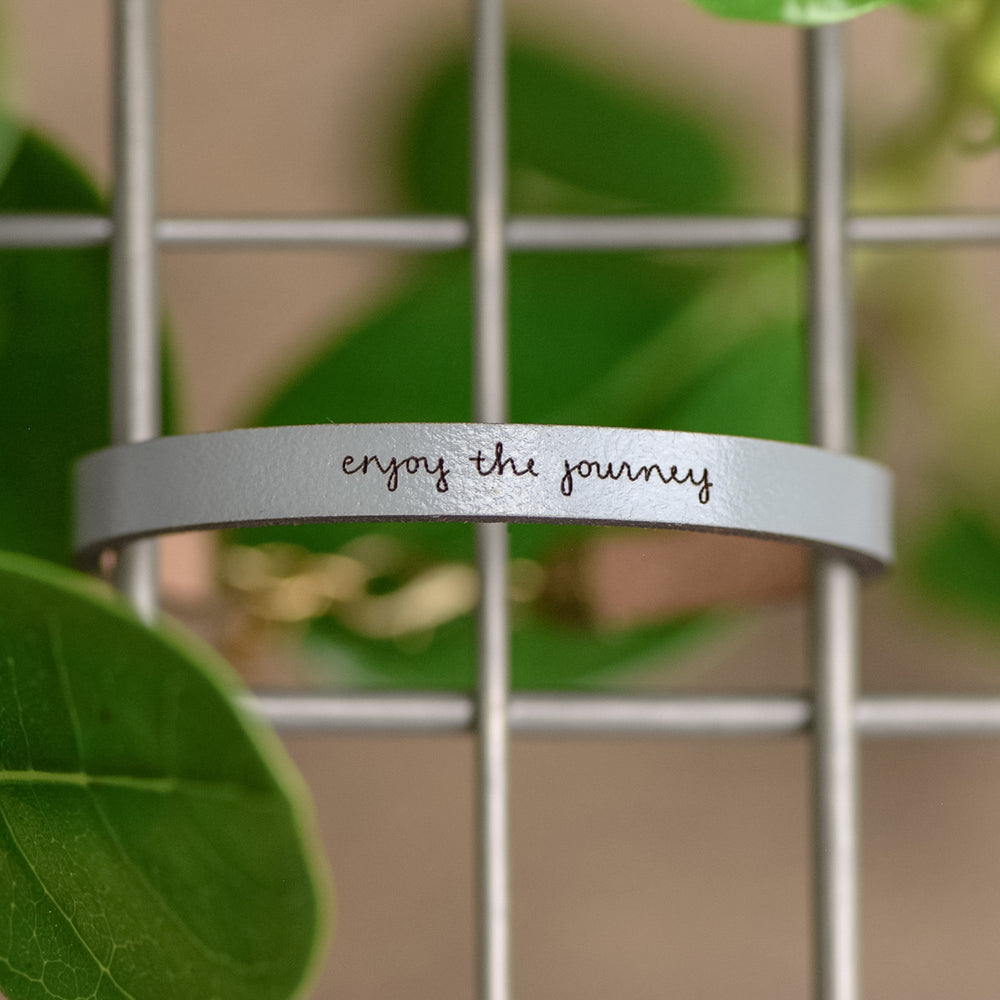 Enjoy the Journey - Leather Bracelet