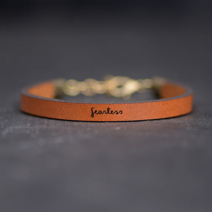 Fearless Leather Bracelet by Laurel Denise