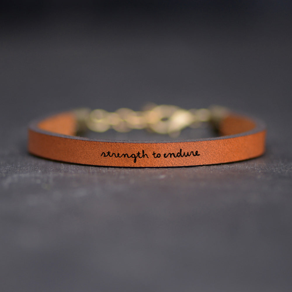 Strength to Endure - Leather Bracelet