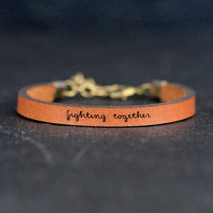 Load image into Gallery viewer, Fighting Together - Leather Bracelet