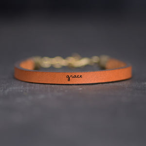 Grace Leather Bracelet by Laurel Denise