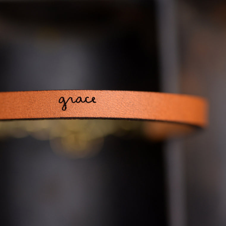 Grace - Leather Bracelet