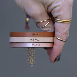Load image into Gallery viewer, Mama - Leather Bracelet