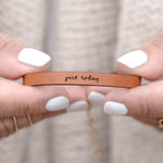 Just Today - Leather Bracelet
