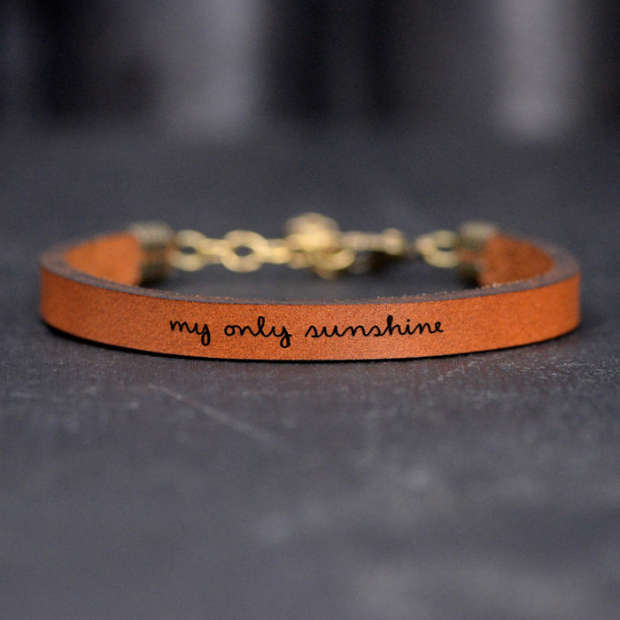 My Only Sunshine - Leather Bracelet