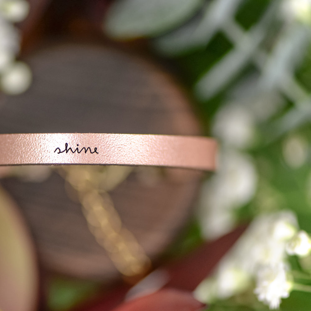 Shine - Leather Bracelet