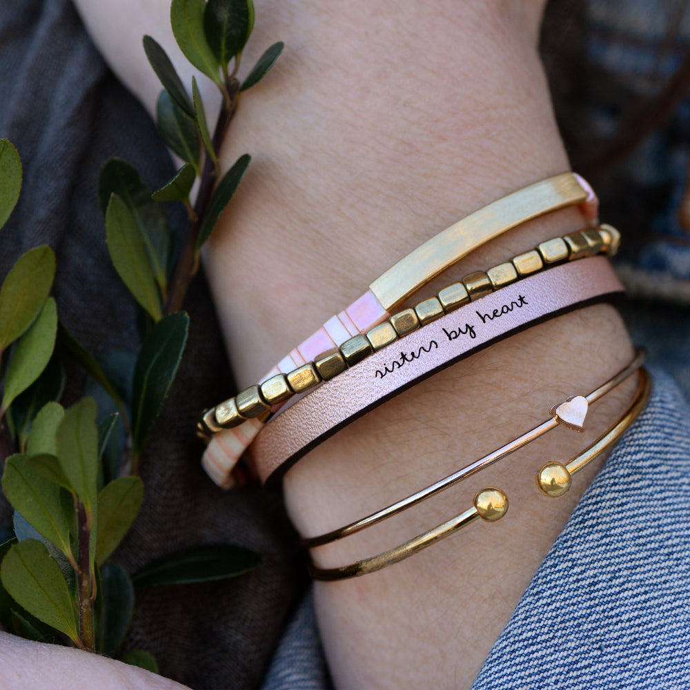 Sisters By Heart - Leather Bracelet