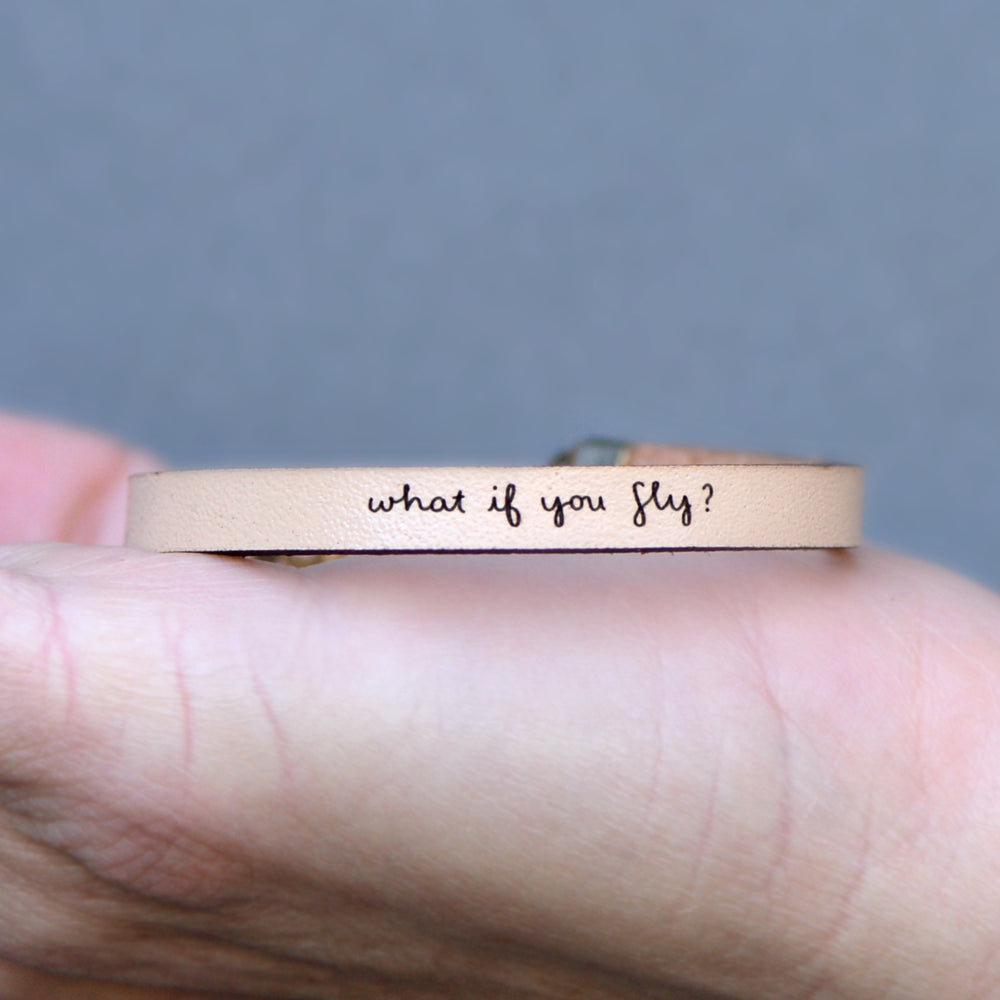 What if you Fly - Leather Bracelet